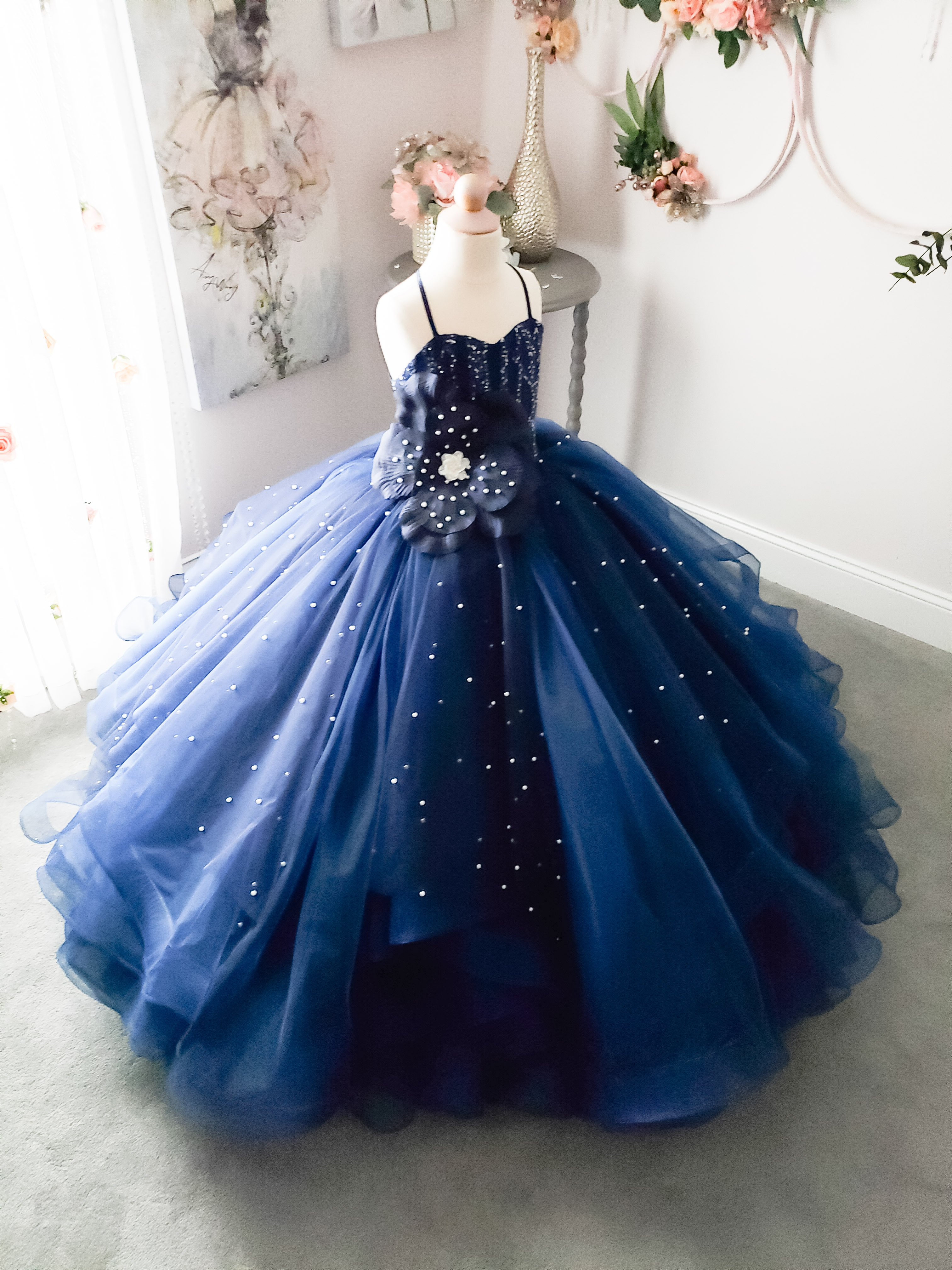 Young Love Gown in Navy