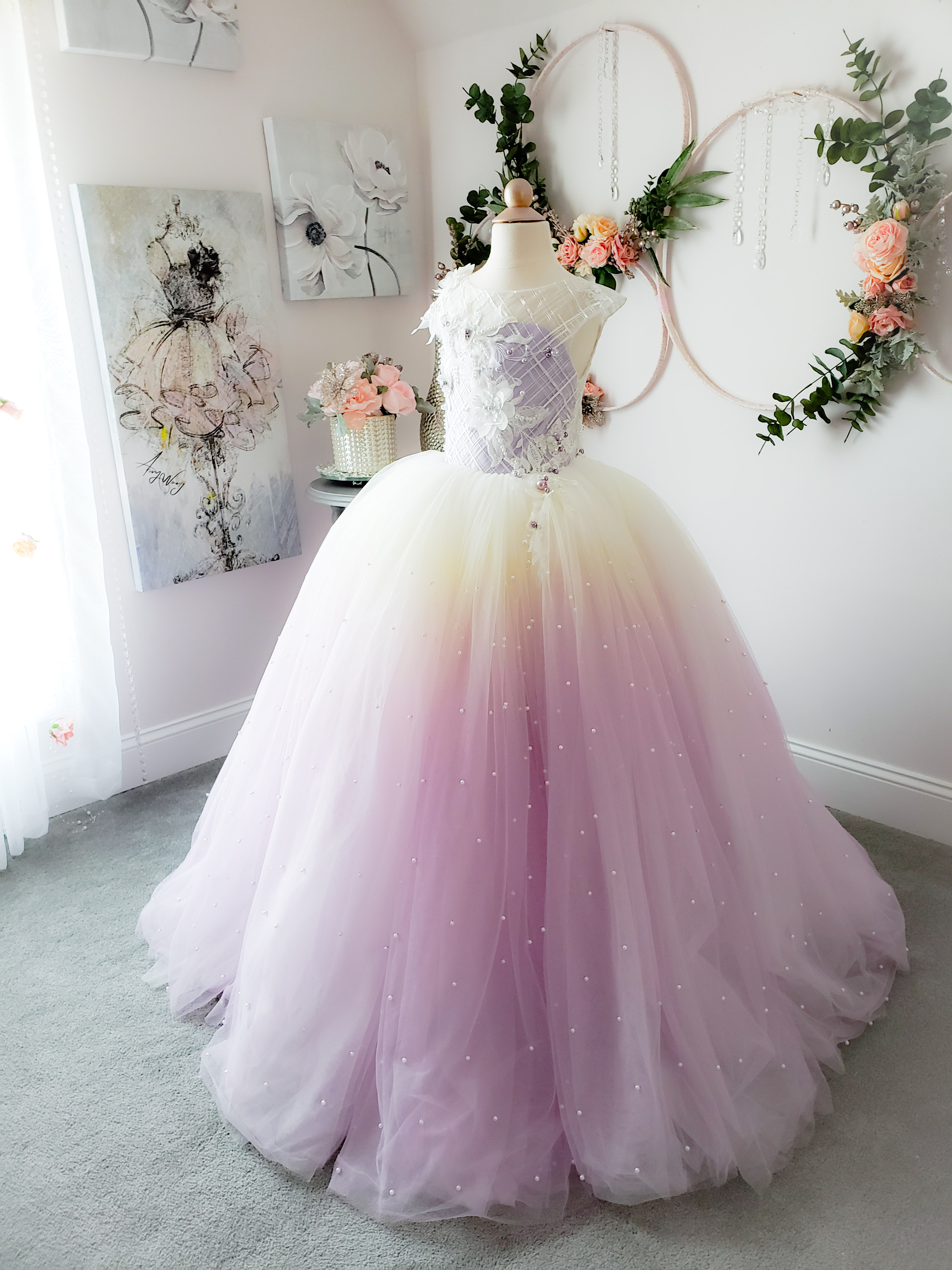 Amaryllis Gown - Lavender Pearl Ombre