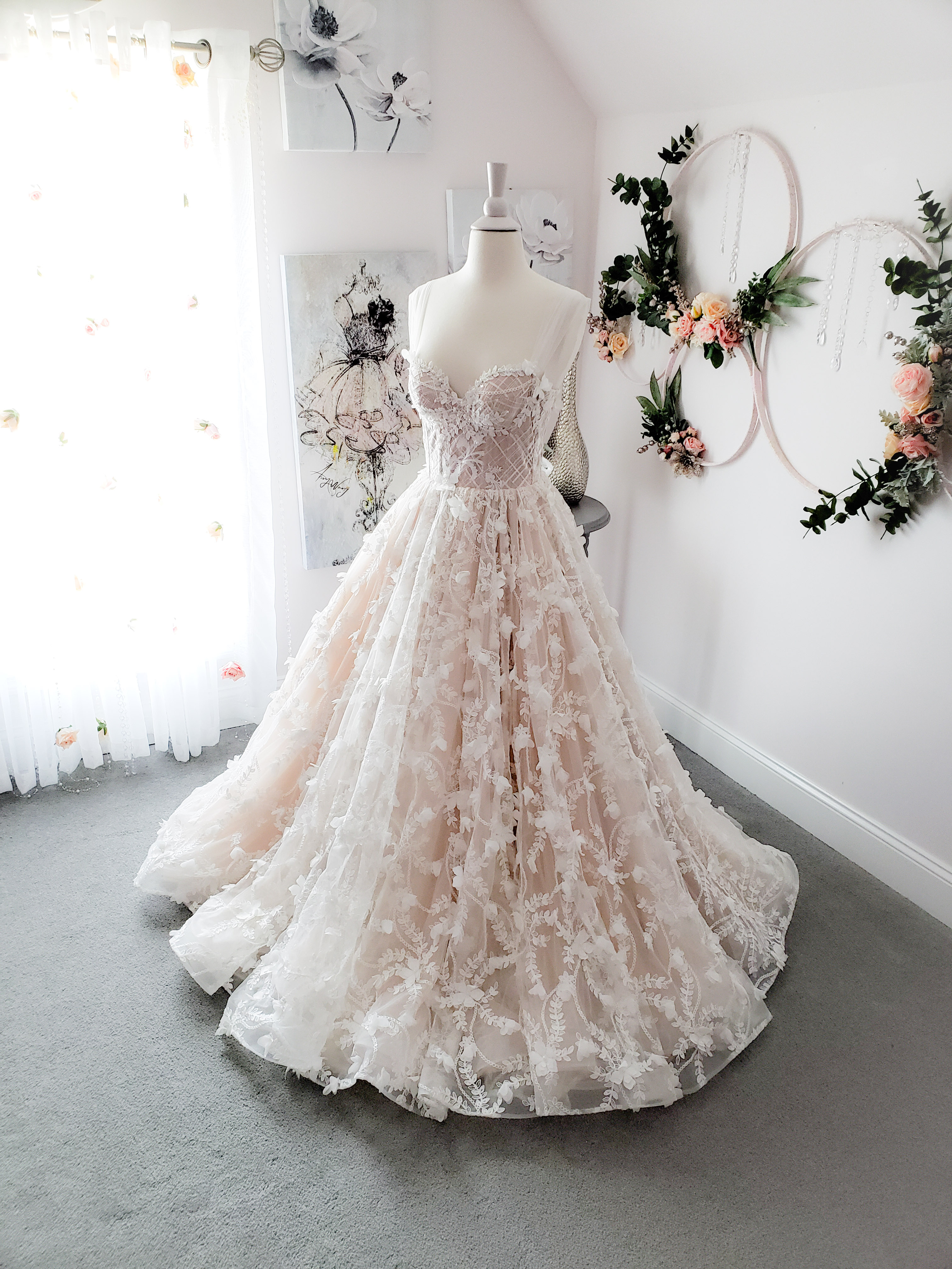 Floral Pirouette Gown
