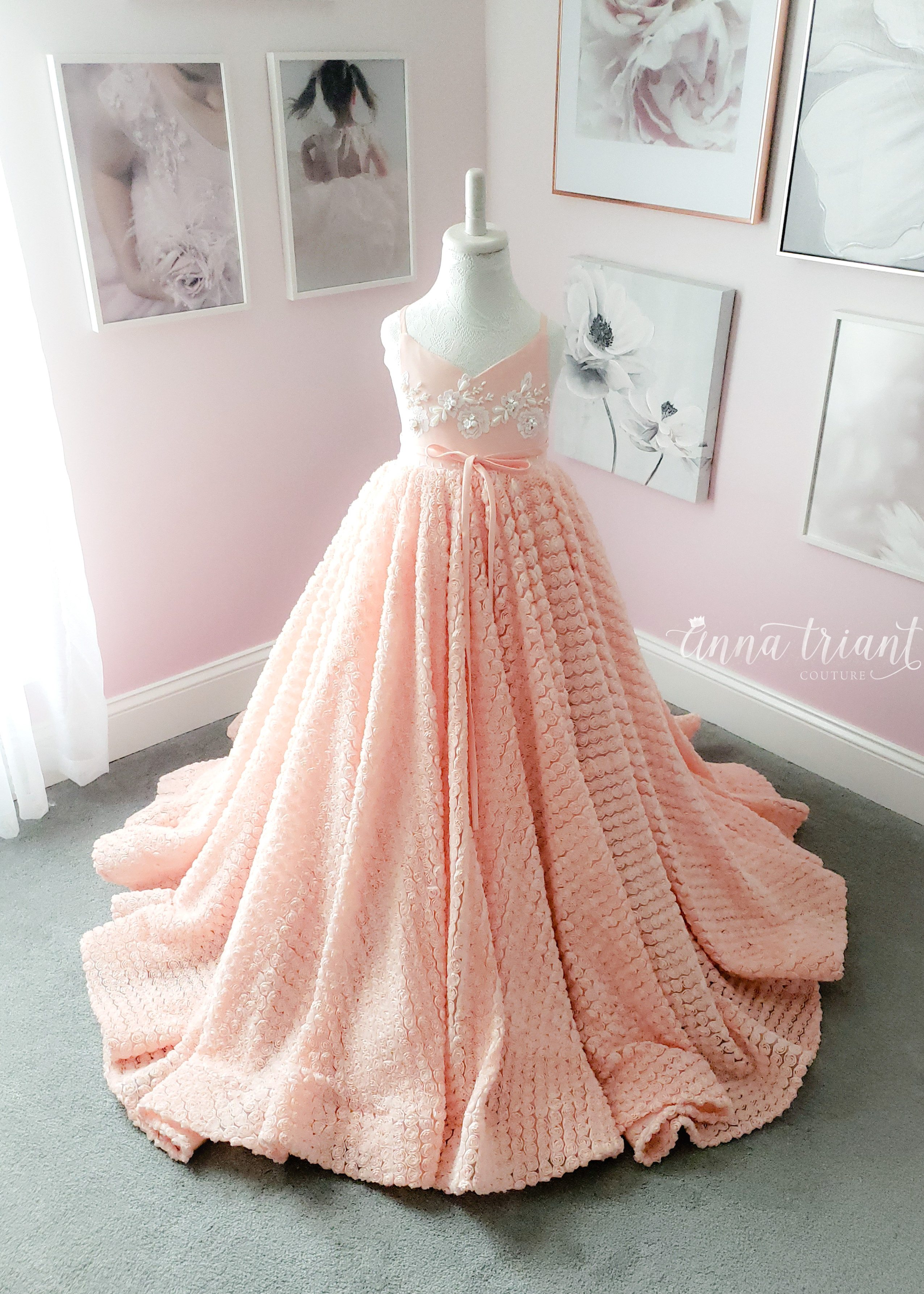 Just Peachy Gown, Simply Anna, size 6-7