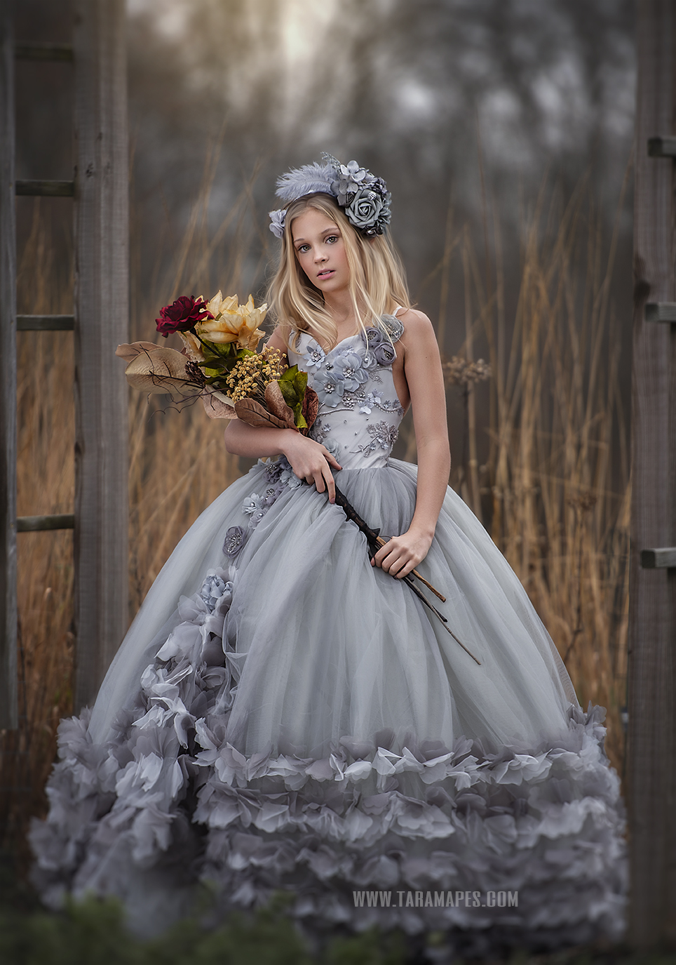 Callista Gown in Gray 2021