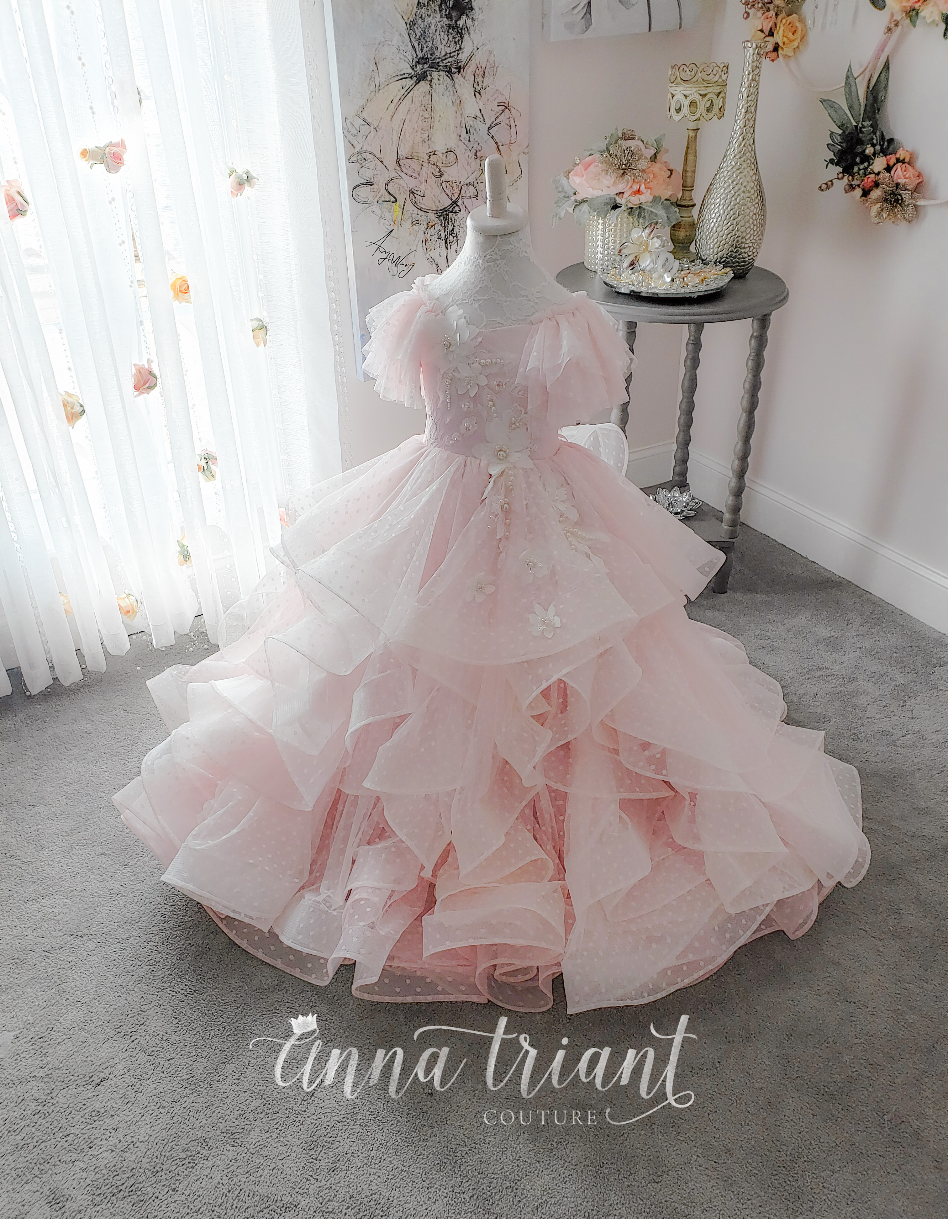 Ellie Gown in Tea Rose Pink