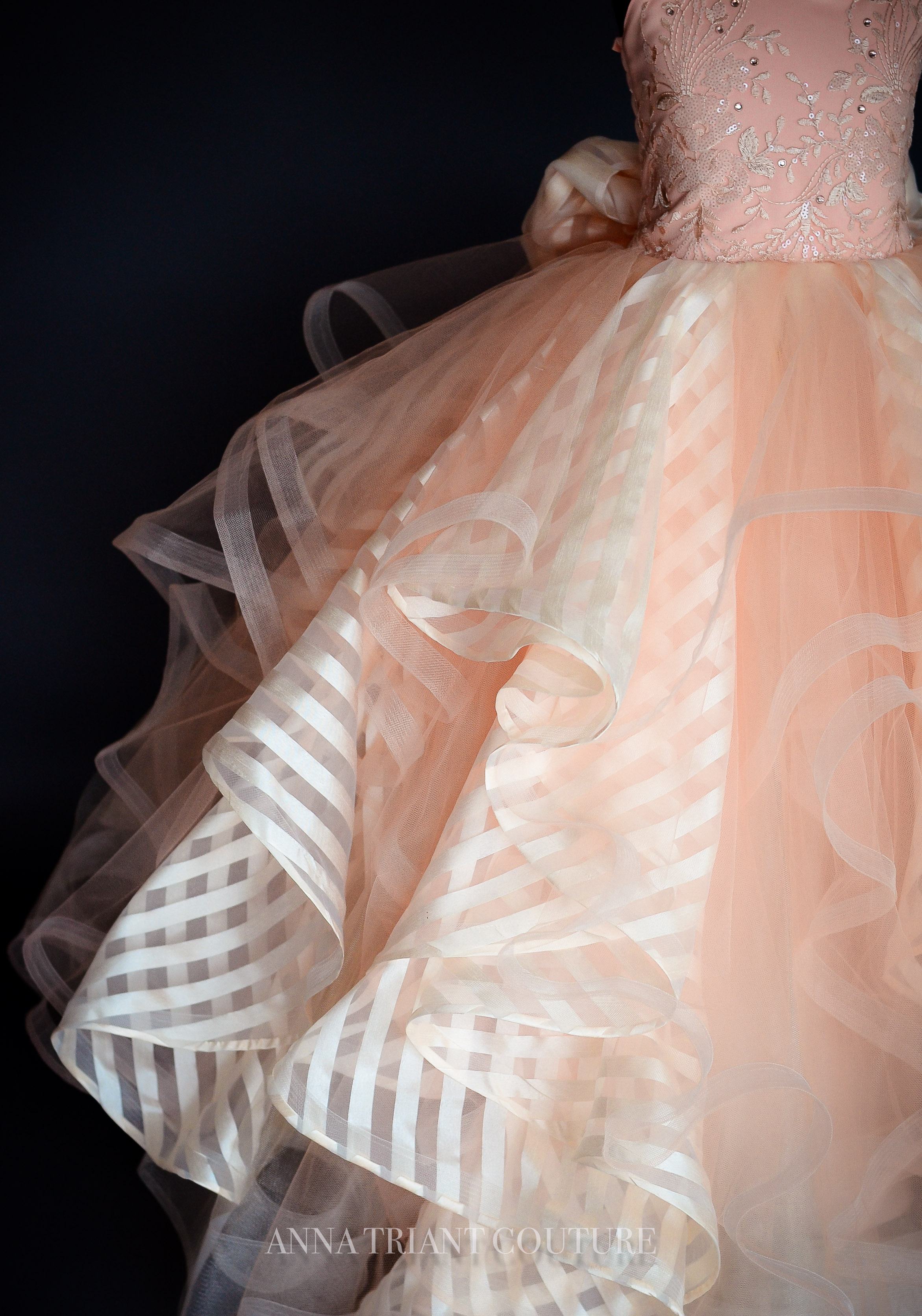 Hayley Peach Gown by Anna Triant Couture
