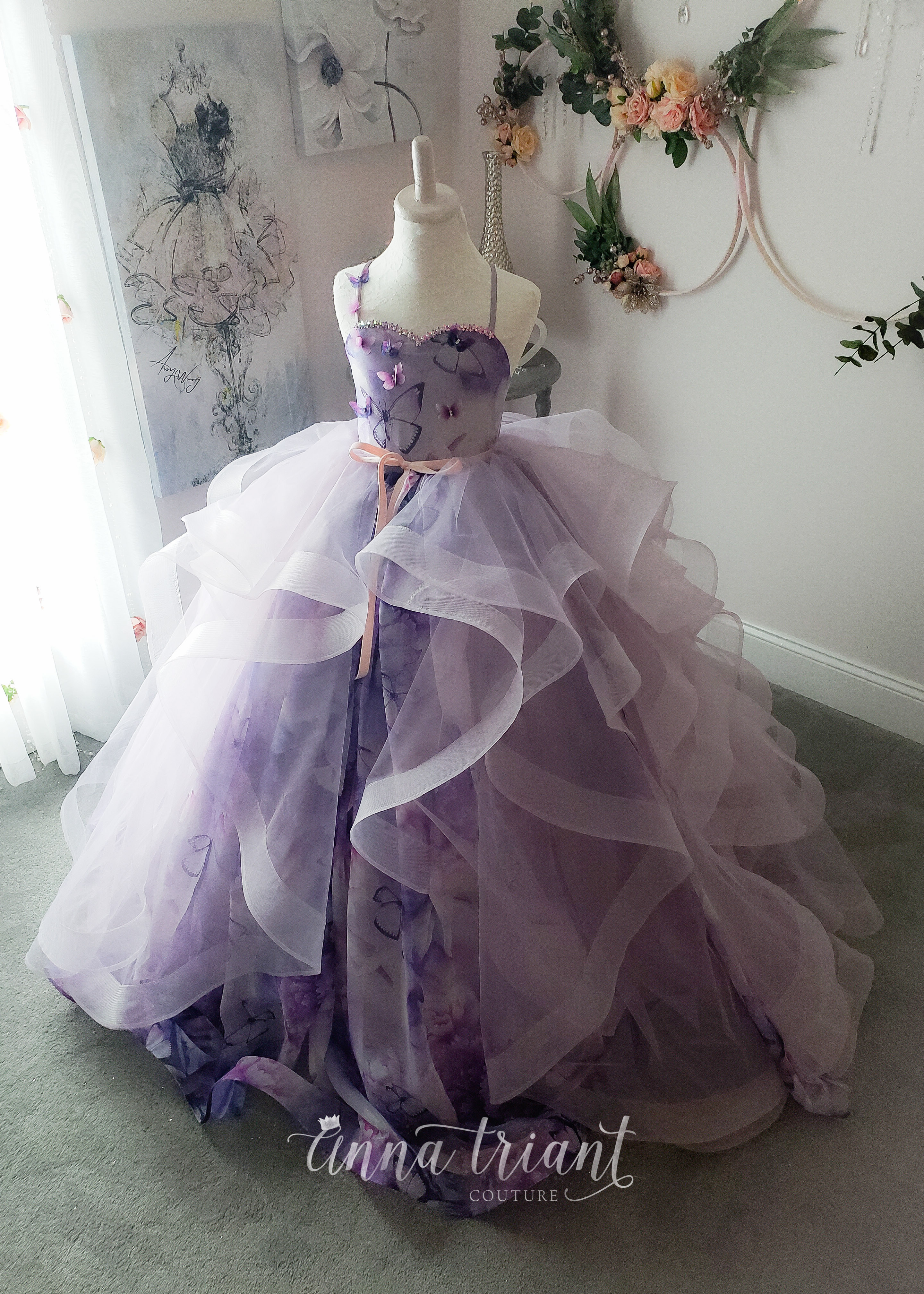 Silk Butterfly Gown