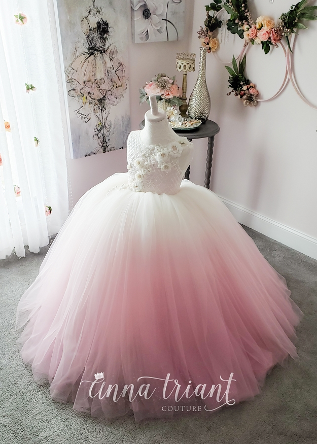 Tea Rose Ombre Gown
