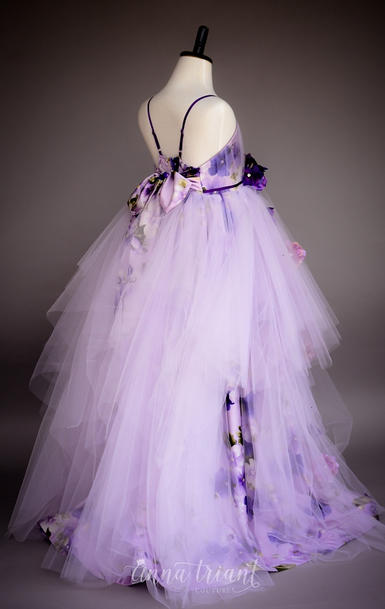 Blooming Pansies Gown
