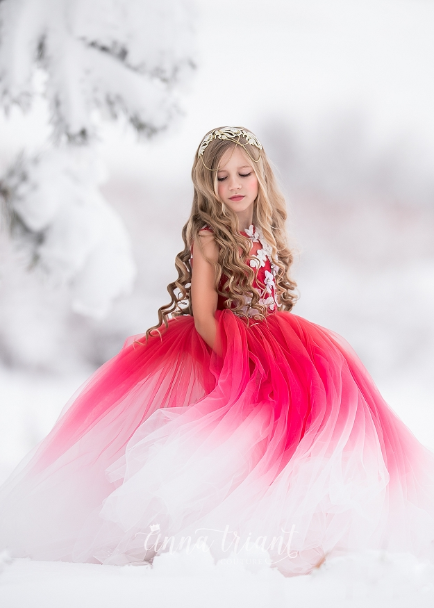Amaryllis Gown - Red Ombre