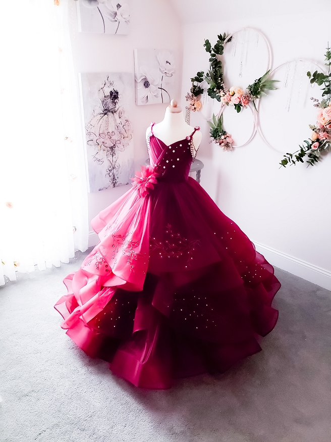 Refined Burgundy Gown