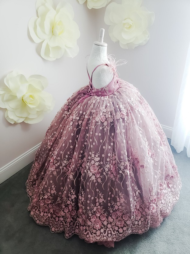 Mauve Lace Gown