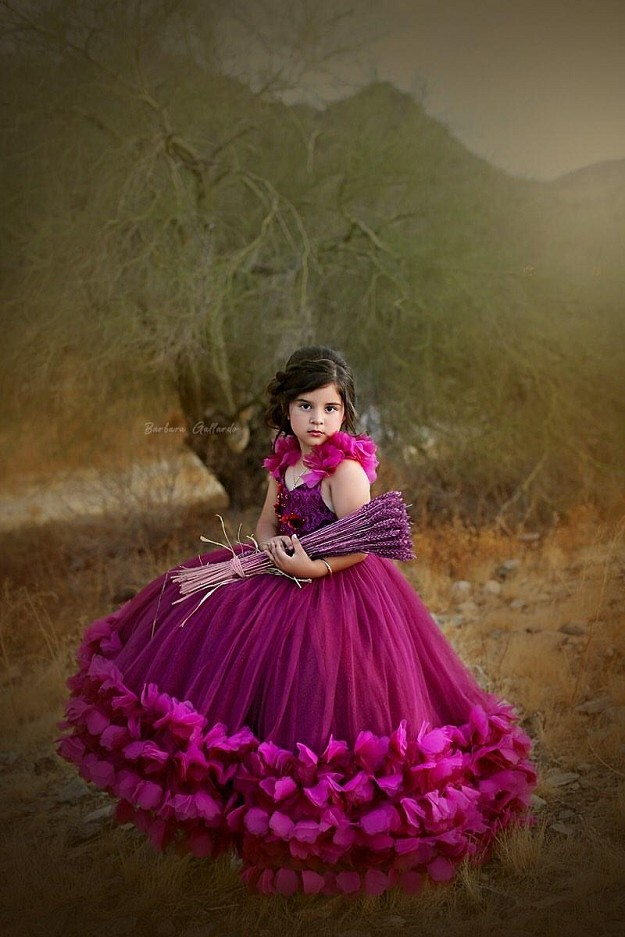 Callista Gown in Wine and Magenta with A-Line Skirt