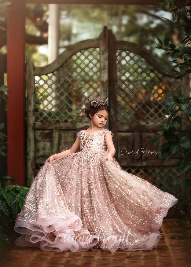 Lustrous Rose Gold Gown