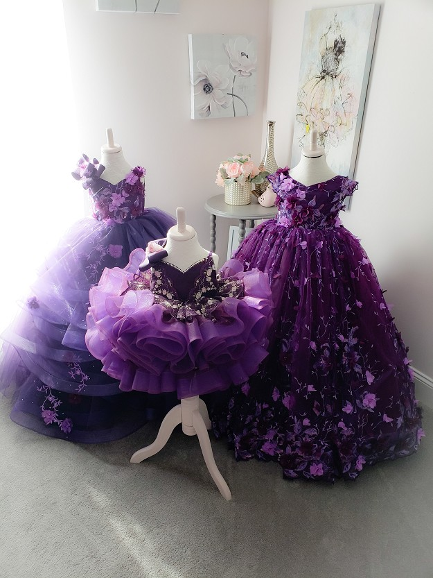 Elegance Gown in Purple Plum