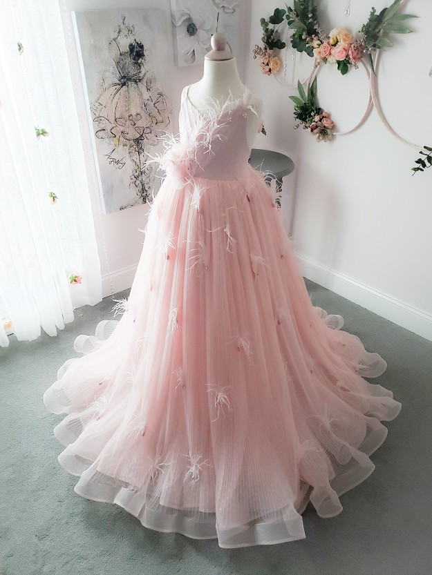 Unveiled Gown in Pink