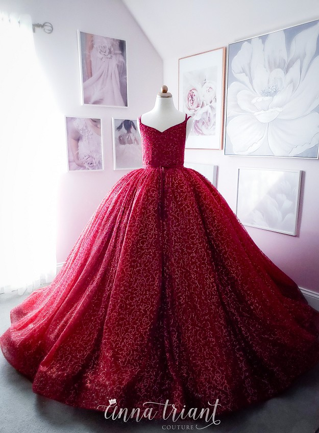 Forest Nymph Gown in Red
